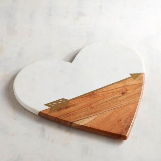 Heart with Arrow Wood Serving board
