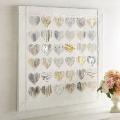 Pier 1 Metallic Hearts Wall Art