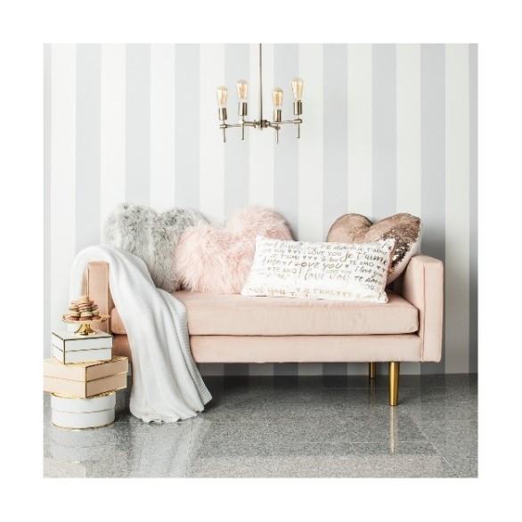 Pink Heart Throw Pillow