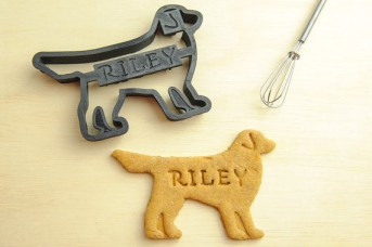 Custom dog shaped cookie cutter