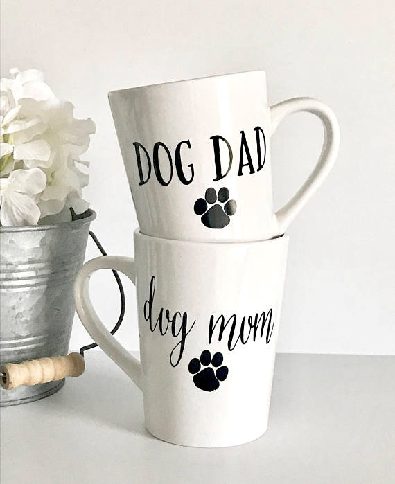 Dog Mom and Dog Dad coffee mug