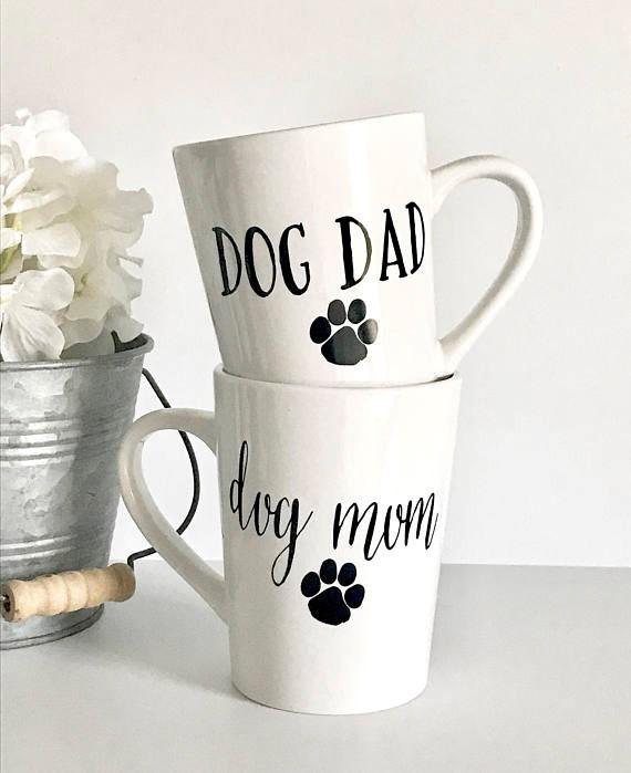 Dog Mom and Dog Dad coffee mug