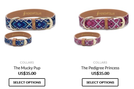 Friendship collar, matching dog collar and bracelet
