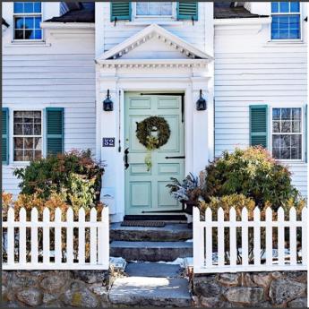 front door 12